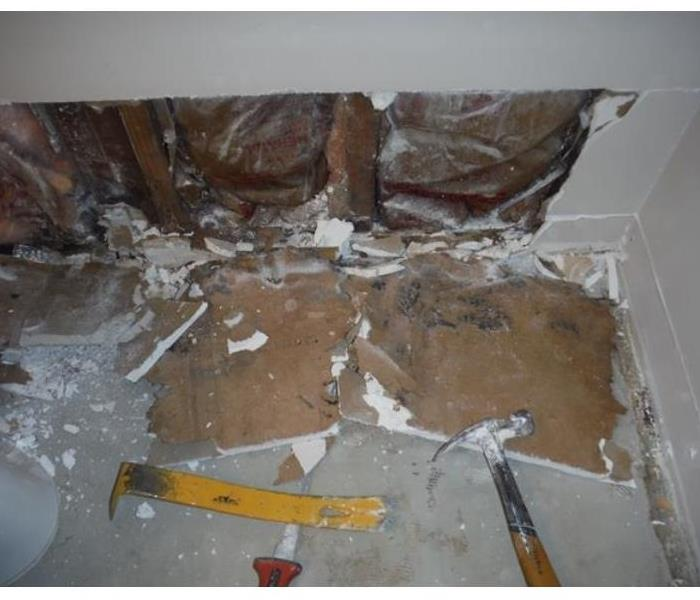 Mold caused by water damage