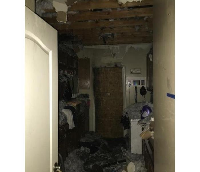 Water damage due to a fire loss